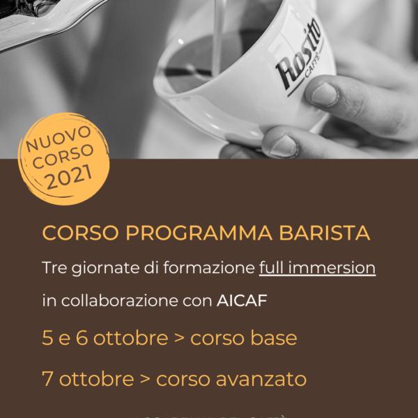 CORSO PROGRAMMA BARISTA